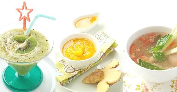 อาหารเด็ก, อาหารเสริม, เมนูต้านหวัดสำหรับเด็ก 6-12 เดือน, เมนูเด็ก, เมนูอาหารเด็ก, เมนูอาหารเสริม, ซุปปลา, ระบบขับถ่าย, โอเมก้า 3, วิตามินซี, เครื่องดื่ม, กีวี, น้ำผึ้ง, สมุนไพร, สารแอนตี้ออกซิแดนซ์, พัฒนาการ, หอบ, หืด, มะขามป้อม, กีวี, ฝรั่ง, มะนาว, ไชเท้า, กะหล่ำปลี, บร็อกโคลี, พริกหวาน, พุทรา, มะม่วง, ขิง, ข่า