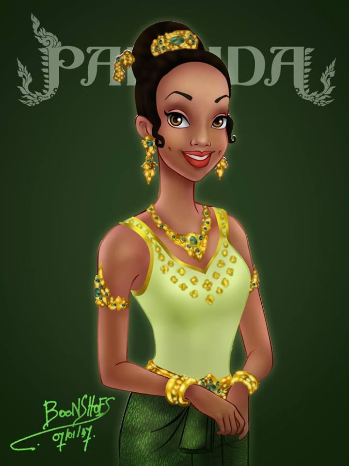 Tiana จากเรื่อง The Princess and the Frog (มหัศจรรย์มนต์รักเจ้าชายกบ)