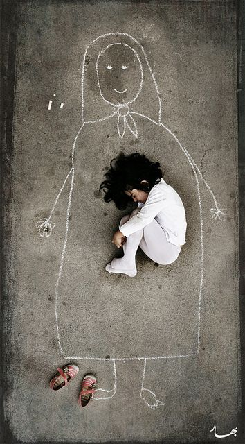 เด็กกำพร้า, กำพร้าแม่, อิรัค, ครอบครัว,  Bahareh Bisheh, รูปแม่, วาดรูปแม่