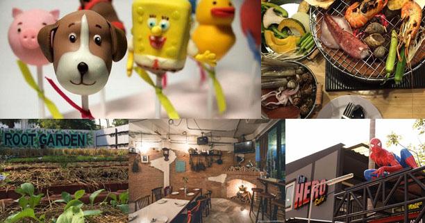 ร้านอาหาร, ท่องเที่ยว,  ครอบครัว, วันหยุด, ร้านอาหารสำหรับครอบครัว, Root Garden, Pop Me Up, The hero café, The third pig, Grill Yard