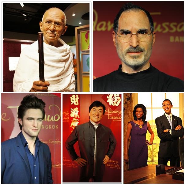 คนดัง, หุ่นขี้ผึ้ง, มาดามทุสโซด์, ชาวไทย, ชาวต่างประเทศ, เชื้อพระวงศ์, นักกีฬา, ดารานักร้อง, สยามดิสคัฟเวอรี่, กรุงเทพฯ